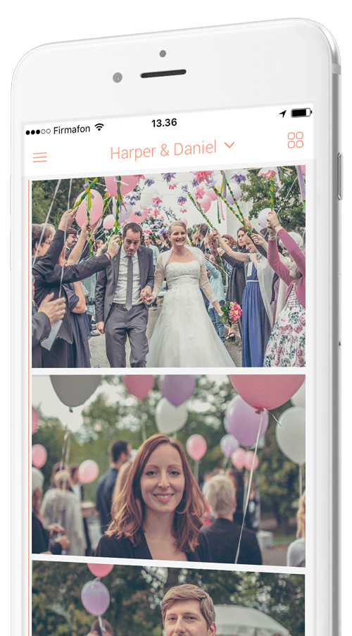 Photo-app for weddings