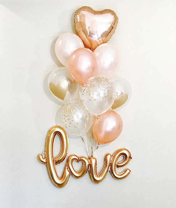 balloons witht he word love
