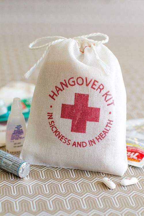 fabric hangover kit bag