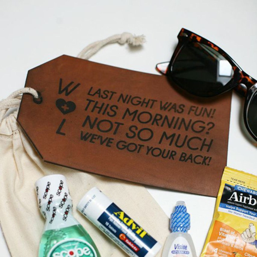 How to put together an awesome hangover kit - Wedbox - wedding