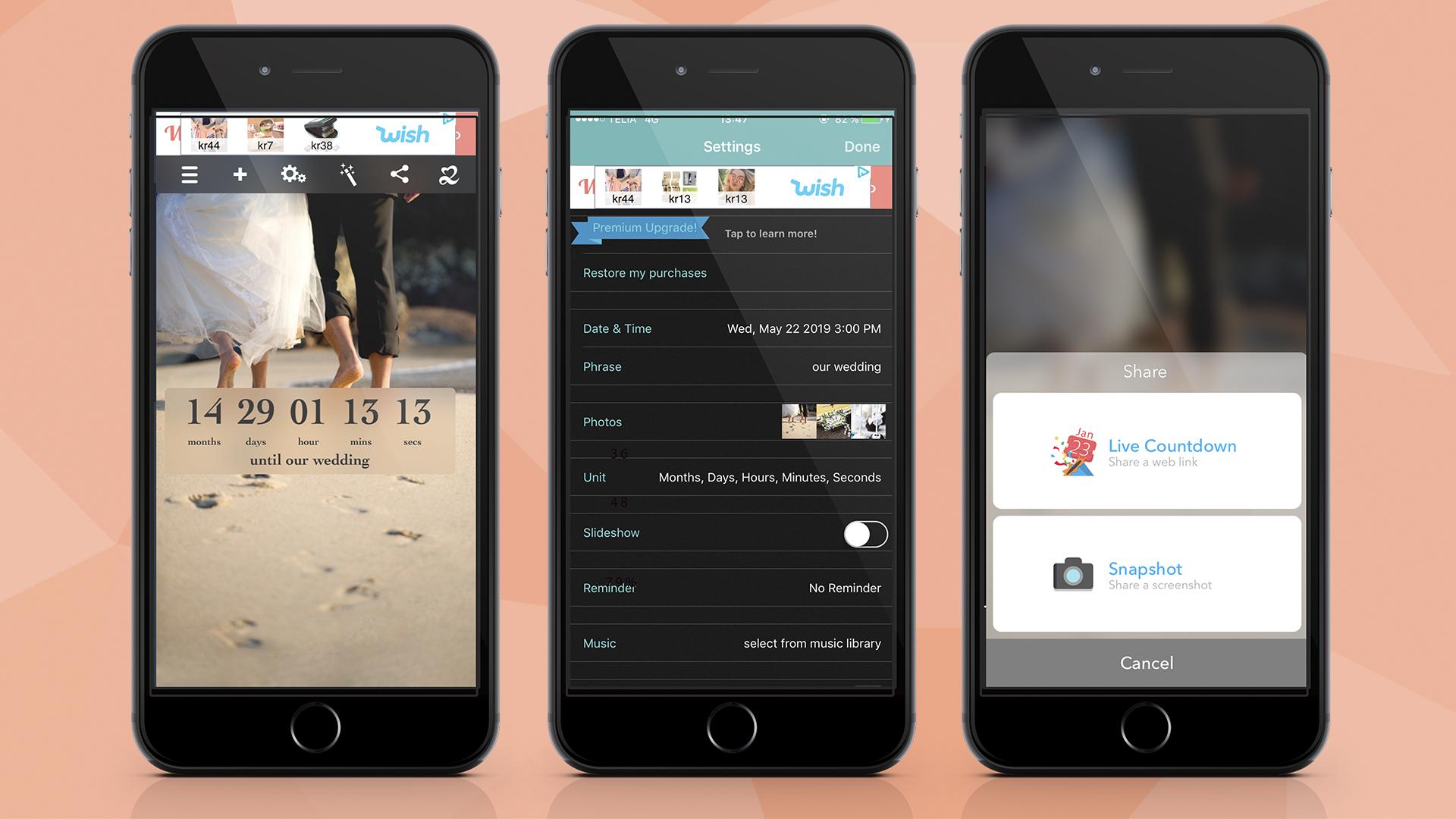 10 best apps to make your wedding easier wedbox wedding photo app wedding countdown app junglespirit Choice Image