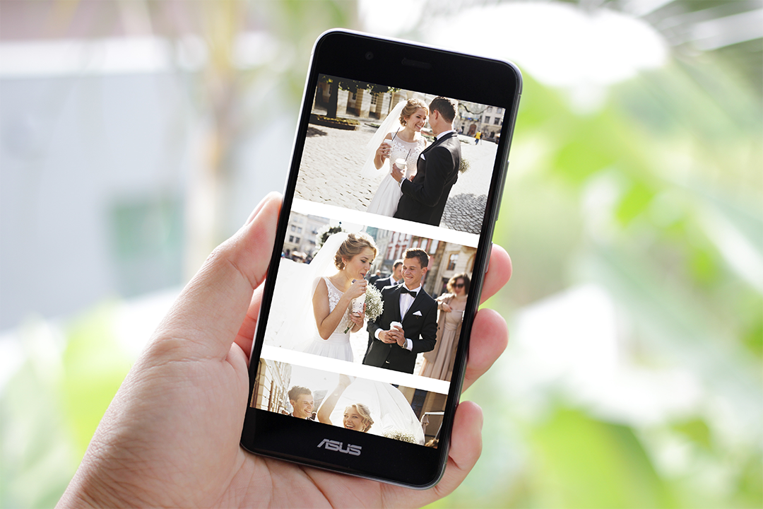 mobile photo with pictures ready to be uploaded to wedbox