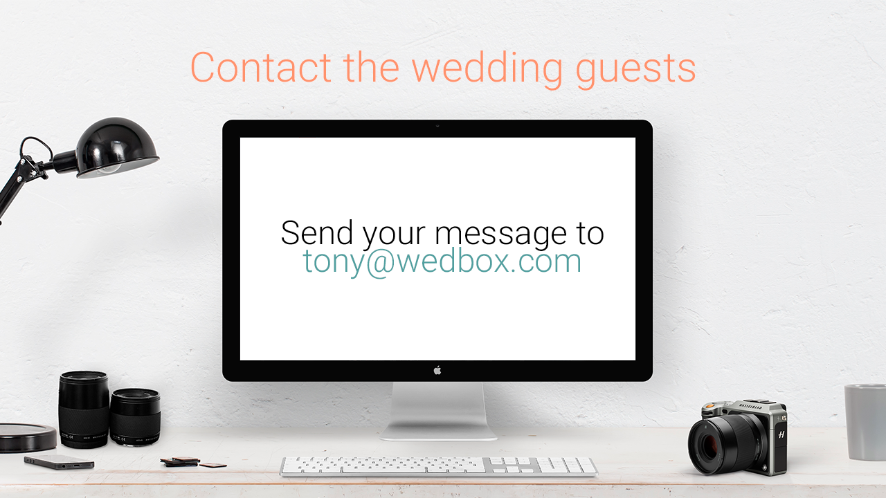 contact the wedding guests