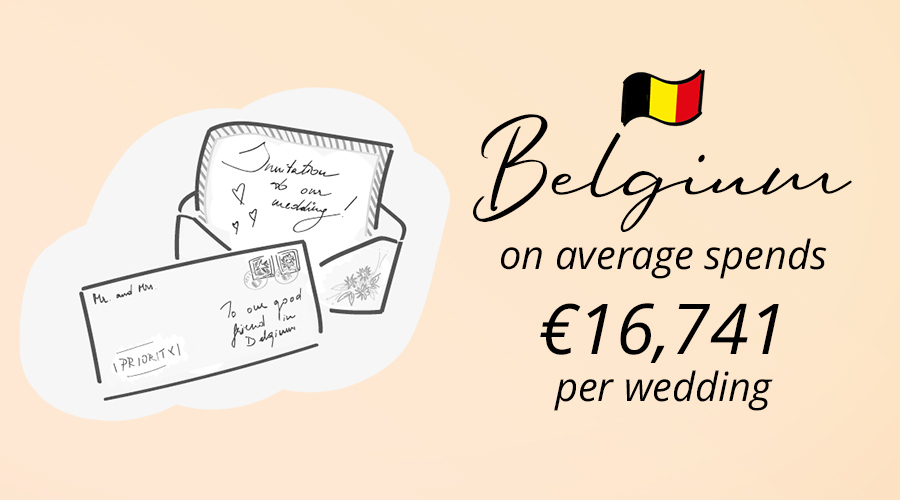 letters of Belgium wedding tradition