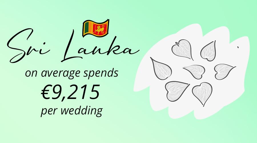 average cost of wedding in Sri lanka, petal leaves
